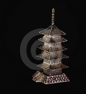 Pagoda (Black) Royalty Free Stock Images - Image: 8152859