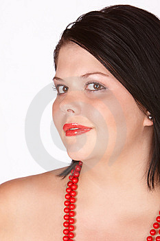 Red Shiny Lips Royalty Free Stock Images - Image: 8153919