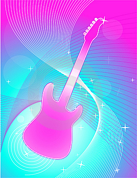 Guitar Swirl Background Royalty Free Stock Photo - Image: 8156345