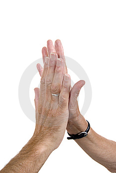 High Fives Royalty Free Stock Photography - Image: 8156537