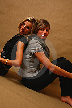 Two Young Females Royalty Free Stock Image - Image: 8157996