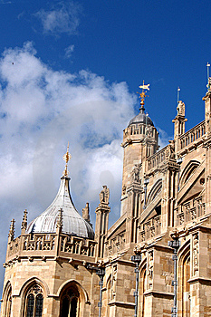 Castle And Blue Sky Stock Images - Image: 8158434