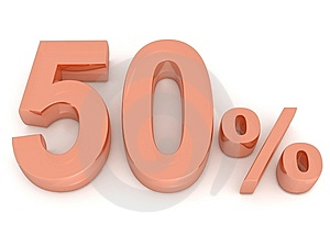 Fifty Percent Royalty Free Stock Image - Image: 8159066