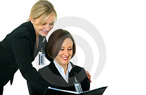 Business Women Discussing On Agenda Stock Photography - Image: 8159792