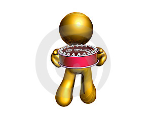 Icon Figure With Birthday Cake Royalty Free Stock Photos - Image: 8162928