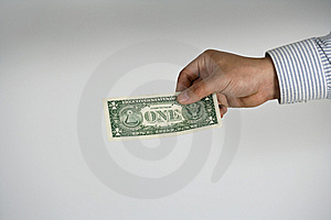One Dollar Payment Stock Images - Image: 8163004