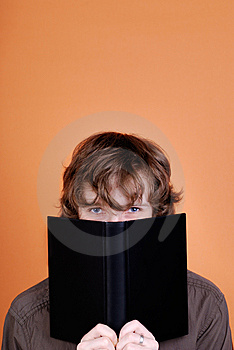 Man Looking Over The Book Stock Photos - Image: 8166113