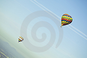 Flying Balloons Royalty Free Stock Image - Image: 8166256