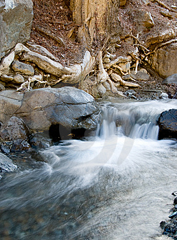 Waterfall, Troodos Cyprus Stock Images - Image: 8166374