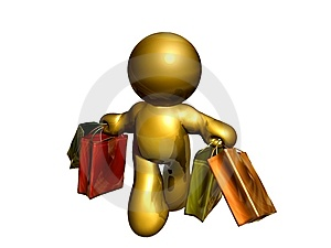 Friend Figure On Shopping Stock Image - Image: 8168951