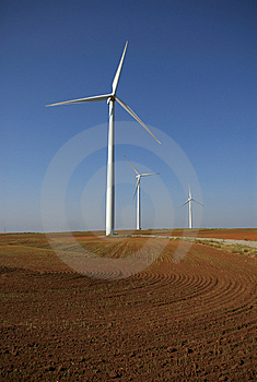 Wind Power In Farm Land Royalty Free Stock Photos - Image: 8169548