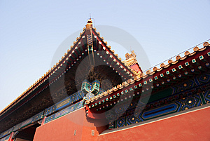 Forbidden City Corner Stock Image - Image: 8169781