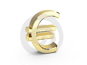 Golden EURO Symbol Royalty Free Stock Image - Image: 8170706