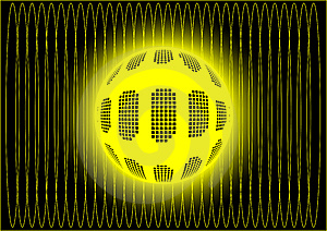Ball In Yellow Cosmic Web Royalty Free Stock Photography - Image: 8171057