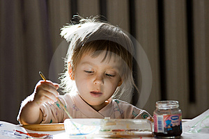 Girl Painting Royalty Free Stock Photography - Image: 8171067