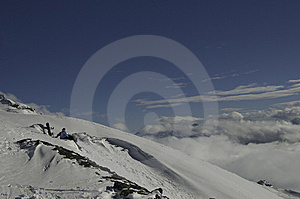 Snowboarders And Mountains Stock Images - Image: 8172084