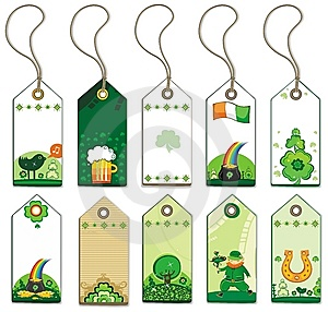 St. Patrick's Day Tags. Stock Photography - Image: 8172292