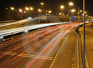 Traffic Night Of City Stock Photography - Image: 8174002