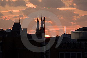 Sunset Over The Hague Stock Photography - Image: 8176872