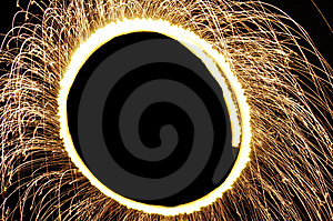 Circle Of Sparks Royalty Free Stock Photography - Image: 8176887