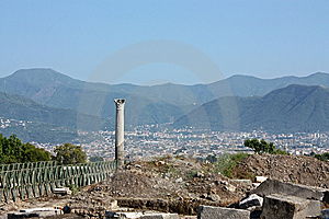 Excavations In Pompeii Royalty Free Stock Images - Image: 8177049