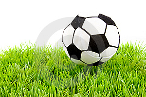Soccerball On The Grass Stock Photography - Image: 8177242
