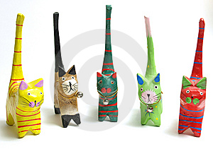 Wood Cat Royalty Free Stock Photos - Image: 8177538