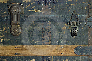 Steamer Trunk Lock And Clasp Royalty Free Stock Photos - Image: 8177738