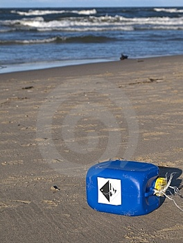 Pollution On Beach Royalty Free Stock Photo - Image: 8178625