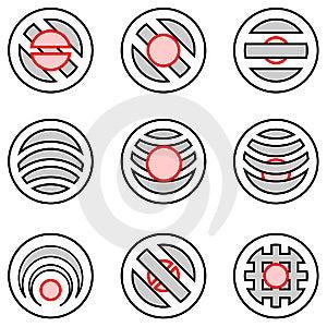 Design Elements Set. Vector. Stock Images - Image: 8178794