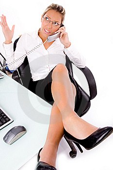 Close Up Of Manager Busy On Phone Stock Images - Image: 8180694