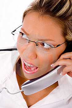Close Up Of Manager Busy On Phone Royalty Free Stock Image - Image: 8180696