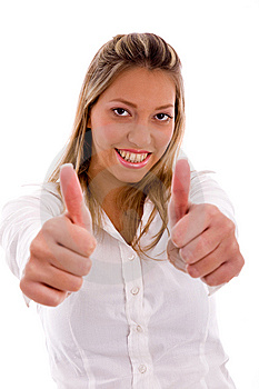 Lawyer Showing Thumb Up With Hands Stock Photos - Image: 8180853
