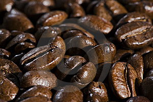 Fresh Brown Coffee Beans Background Stock Photo - Image: 8183130
