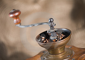 Old-fashioned Coffee Grinder Royalty Free Stock Photos - Image: 8183178