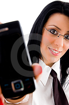 Lawyer Showing Cell Phone Stock Photos - Image: 8184443