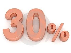 Thirty Percent Stock Image - Image: 8184791