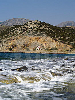 Small Church Near Blue Sea Royalty Free Stock Images - Image: 8185359