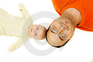 Father And Baby Royalty Free Stock Photos - Image: 8186028