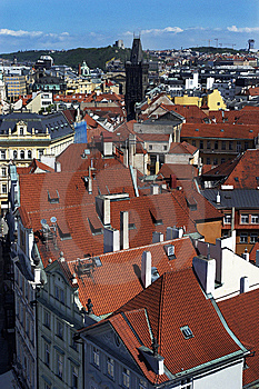 Prague's Roofs Royalty Free Stock Photography - Image: 8186067