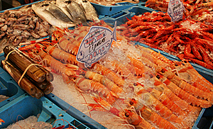 Lobsters In A Market Royalty Free Stock Photography - Image: 8187667