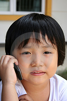 Girl On Mobile Phone Stock Images - Image: 8187764
