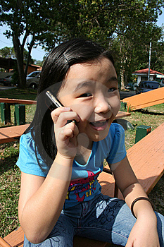 Girl On Mobile Phone Royalty Free Stock Photos - Image: 8187878