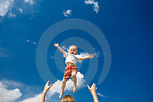 Flying Child Stock Image - Image: 8188461