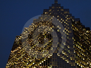 City Skyscraper At Night Royalty Free Stock Photography - Image: 8189107