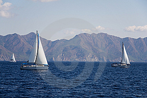 Sailboat At Sea. Royalty Free Stock Photography - Image: 8189567