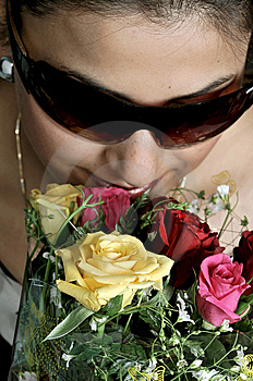 Girl With Roses Stock Photography - Image: 8189852