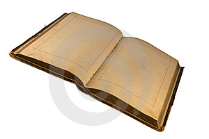 The Open Old  Book With Empty Pages Stock Images - Image: 8191054