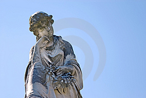 Cemetery Statue Of Sad Woman Royalty Free Stock Photo - Image: 8191075
