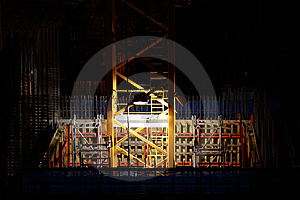 Construction At Night Stock Image - Image: 8191111